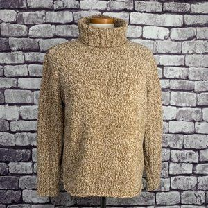 J. Jill Brown & Ivory Turtleneck Sweater Size L